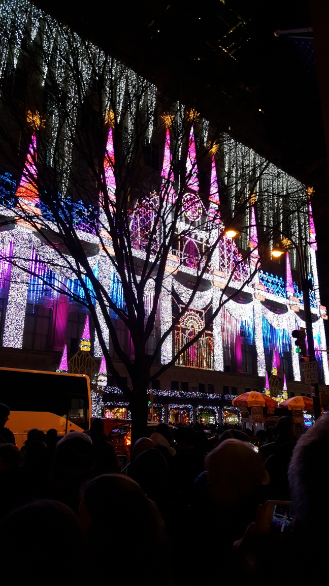 Light show at Rockefeller Center